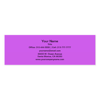 Medium Orchid Solid Color Mini Business Card
