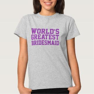 Medium Orchid World's Greatest Bridesmaid Shirt