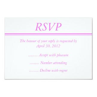 Medium Pink Event RSVP or Reply Card Custom Invitations