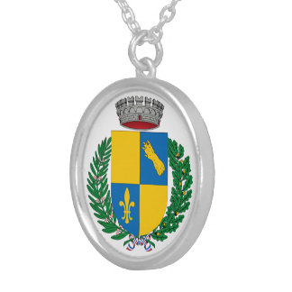 Medium Plated Money Round Collar Silver Plated Necklace