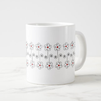 Medium Posie Band Mug 20 Oz Large Ceramic Coffee Mug