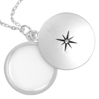 MEDIUM ROUND SILVER PLATE LOCKET
