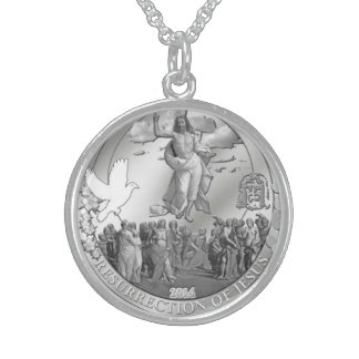 Medium Round Sterling Silver Necklace