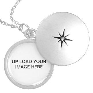 Medium Silver Plated Round Locket blank
