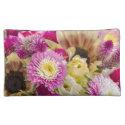 Medium size floral print cosmetic bag
