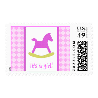 Medium size Its a Girl Postage