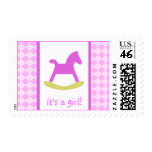 Medium size Its a Girl Postage Stamp