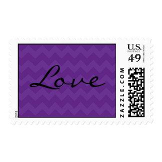 Medium Sized Purple Chevron Love Stamp