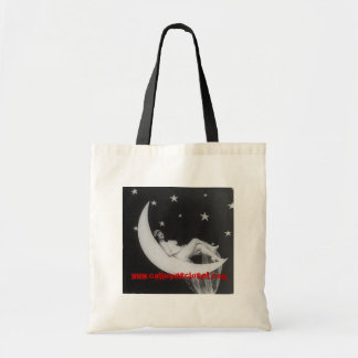 Medium Sized Tote with Goddess On The Moon Budget Tote Bag