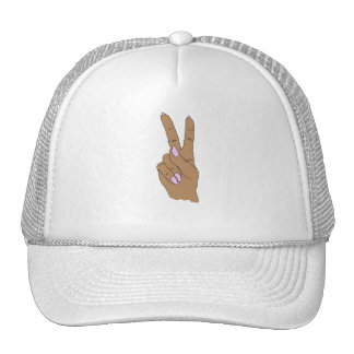 Medium Skin Peace Out Baseball Cap Trucker Hat