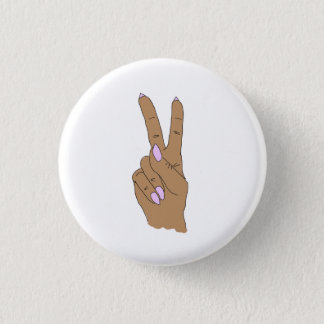 Medium Skin Peace Out Round Fashion Button
