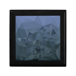 Medium Slate Blue Abstract Low Polygon Background Jewelry Box