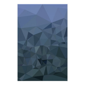 Medium Slate Blue Abstract Low Polygon Background Stationery