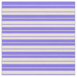 [ Thumbnail: Medium Slate Blue and Bisque Stripes Fabric ]