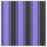 [ Thumbnail: Medium Slate Blue and Black Stripes/Lines Pattern Fabric ]