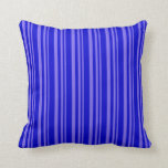 [ Thumbnail: Medium Slate Blue and Blue Colored Pattern Pillow ]