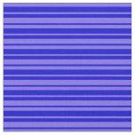 [ Thumbnail: Medium Slate Blue and Blue Stripes Fabric ]