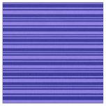 [ Thumbnail: Medium Slate Blue and Dark Blue Colored Stripes Fabric ]