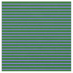 [ Thumbnail: Medium Slate Blue and Dark Green Colored Pattern Fabric ]