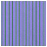 [ Thumbnail: Medium Slate Blue and Dark Green Lines Fabric ]