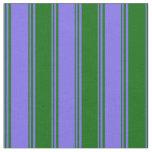 [ Thumbnail: Medium Slate Blue and Dark Green Pattern Fabric ]