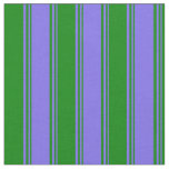 [ Thumbnail: Medium Slate Blue and Green Colored Pattern Fabric ]