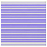 [ Thumbnail: Medium Slate Blue and Light Yellow Colored Lines Fabric ]