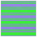 [ Thumbnail: Medium Slate Blue and Lime Colored Lines Fabric ]