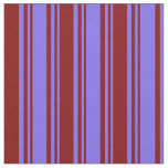 [ Thumbnail: Medium Slate Blue and Maroon Stripes Fabric ]