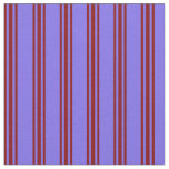 [ Thumbnail: Medium Slate Blue and Maroon Stripes Pattern Fabric ]