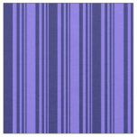 [ Thumbnail: Medium Slate Blue and Midnight Blue Colored Lines Fabric ]