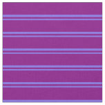 [ Thumbnail: Medium Slate Blue and Purple Striped Pattern Fabric ]