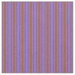 [ Thumbnail: Medium Slate Blue and Sienna Stripes Fabric ]