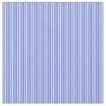 [ Thumbnail: Medium Slate Blue and Turquoise Colored Stripes Fabric ]