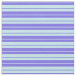 [ Thumbnail: Medium Slate Blue and Turquoise Lines Fabric ]