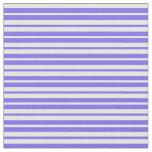 [ Thumbnail: Medium Slate Blue and White Lines Pattern Fabric ]