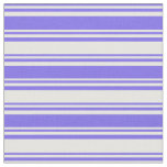 [ Thumbnail: Medium Slate Blue and White Stripes Fabric ]