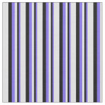 [ Thumbnail: Medium Slate Blue, Black & Lavender Pattern Fabric ]