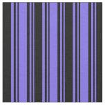 [ Thumbnail: Medium Slate Blue & Black Pattern Fabric ]