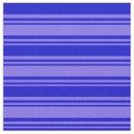 [ Thumbnail: Medium Slate Blue & Blue Striped Pattern Fabric ]