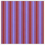 [ Thumbnail: Medium Slate Blue & Dark Red Stripes Fabric ]