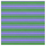 [ Thumbnail: Medium Slate Blue & Forest Green Pattern Fabric ]
