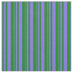 [ Thumbnail: Medium Slate Blue & Green Colored Pattern Fabric ]
