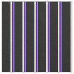 [ Thumbnail: Medium Slate Blue, Indigo, Beige & Black Stripes Fabric ]