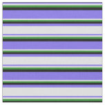 [ Thumbnail: Medium Slate Blue, Lavender, Forest Green & Black Fabric ]
