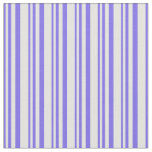 [ Thumbnail: Medium Slate Blue & Light Cyan Colored Stripes Fabric ]