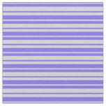 [ Thumbnail: Medium Slate Blue & Light Gray Lined Pattern Fabric ]