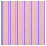 [ Thumbnail: Medium Slate Blue & Light Pink Lines Fabric ]