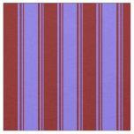 [ Thumbnail: Medium Slate Blue & Maroon Stripes/Lines Pattern Fabric ]