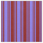 [ Thumbnail: Medium Slate Blue & Maroon Stripes Pattern Fabric ]